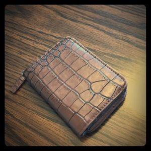 Brown fold wallet